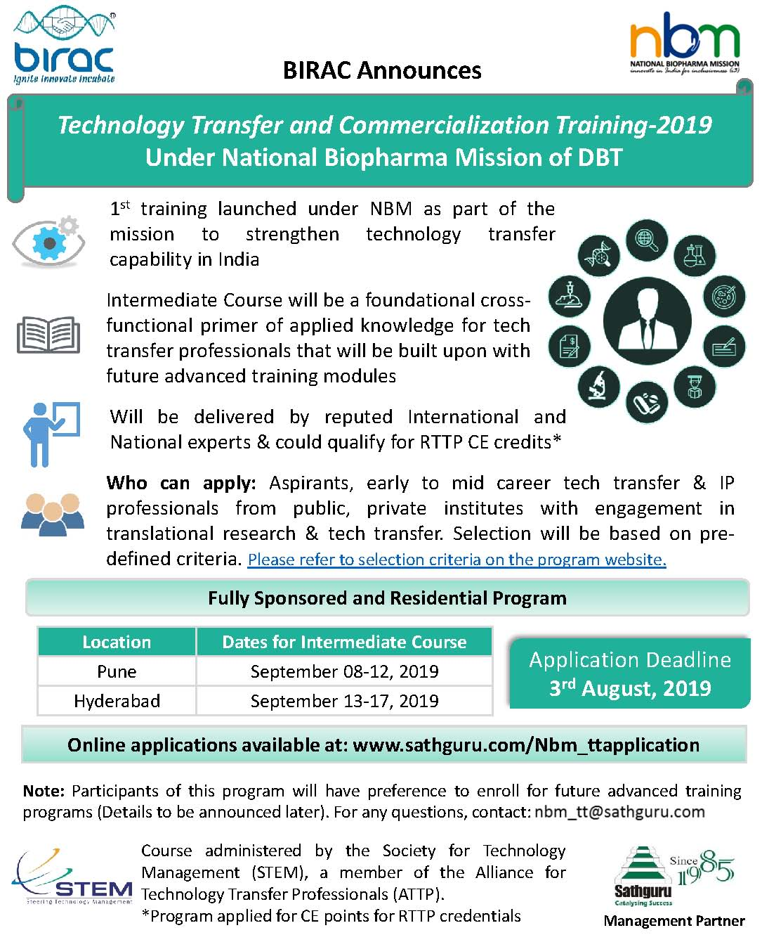 Technology Transfer & Commercialization Training (Last Date